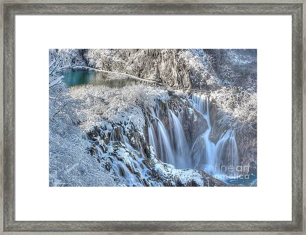 Plitvice Winter Framed Print