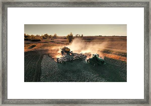Plow The Fields And Scatter  Framed Print