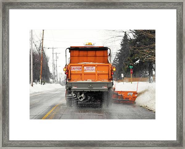 Plowing Snow Framed Print