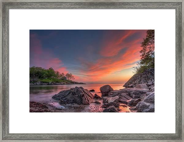 Plum Cove Framed Print