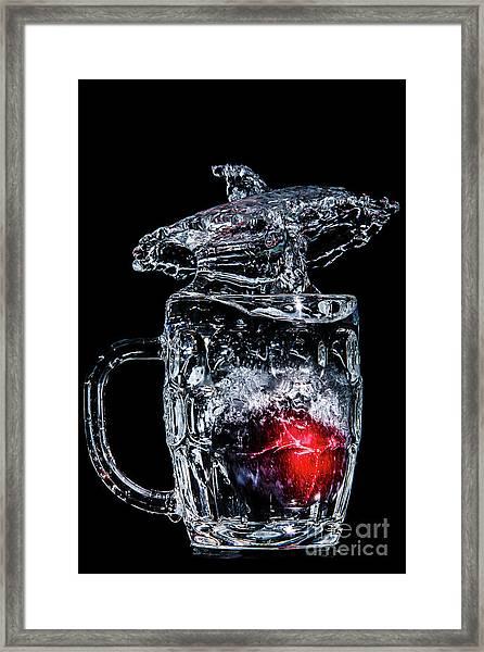 Plum Splash Framed Print