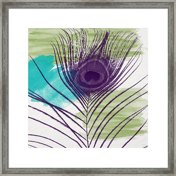 Plumage 2-art By Linda Woods Framed Print