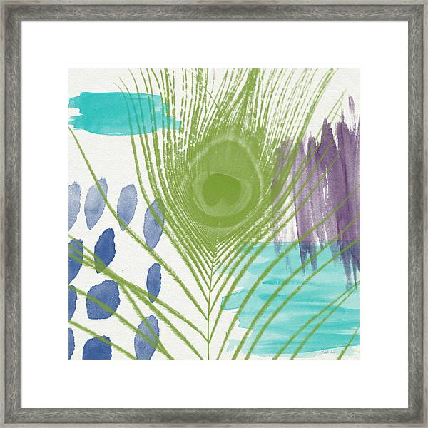 Plumage 4- Art By Linda Woods Framed Print