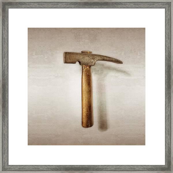 Plumb Masonry Hammer Framed Print
