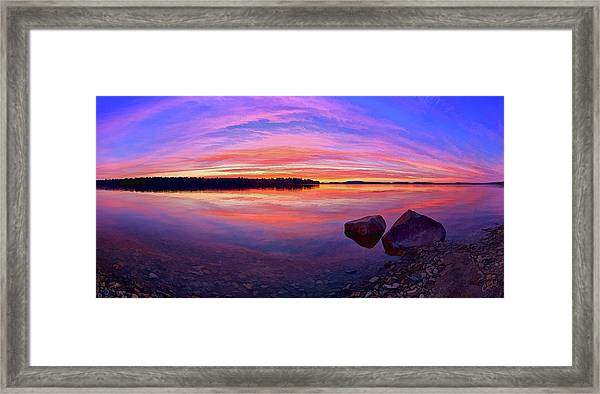 Pocomoonshine Sunset 2 Framed Print