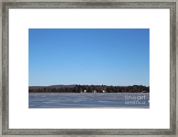 Poconos, The Lake In January Framed Print