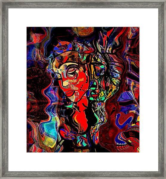 Poetry Music And Art Framed Print