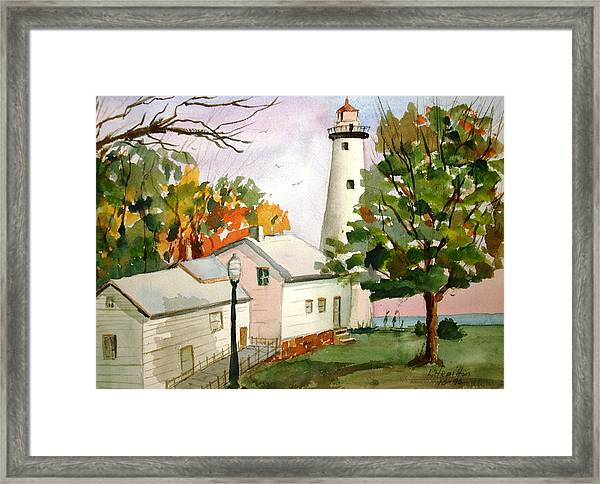 Point Aux Barques Lighthouse - Port Hope Mi Framed Print