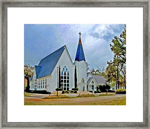 Point Clear Alabama St. Francis Church Framed Print