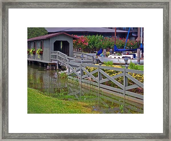 Point Clear Bridge At Grand Hotel Framed Print