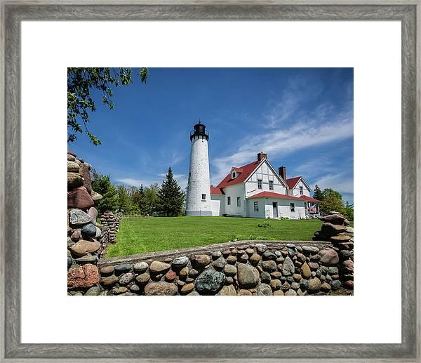 Point Iroquois Light Station Framed Print