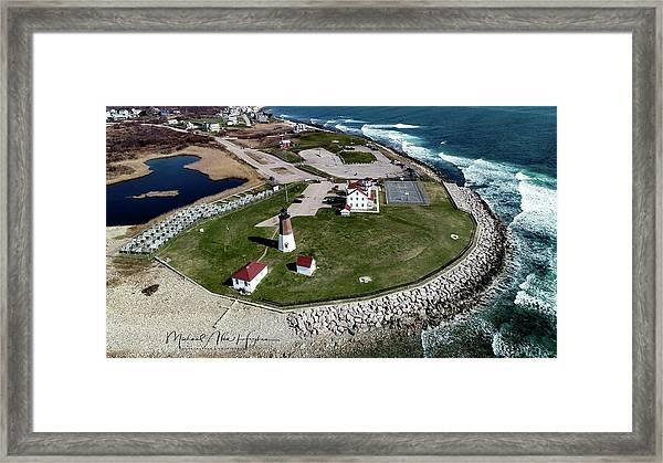 Point Judith Easter Cross Framed Print