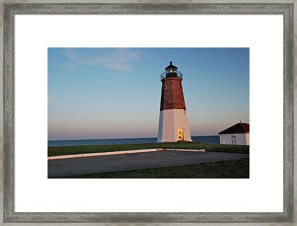 Point Judith Lighthouse Rhode Island Framed Print