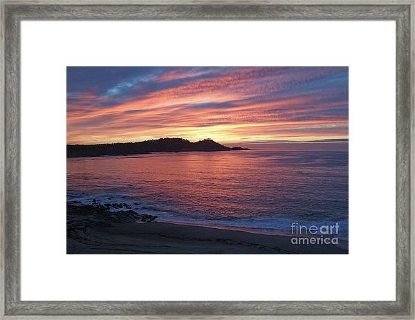 Point Lobos Red Sunset Framed Print