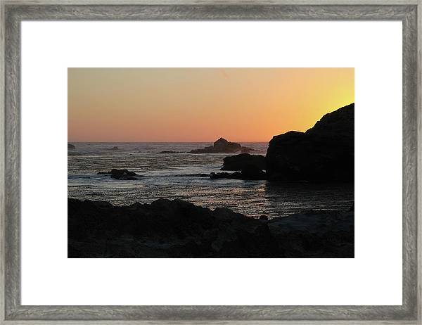 Point Lobos Sunset Framed Print