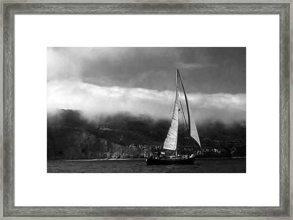Point Loma Fog Framed Print