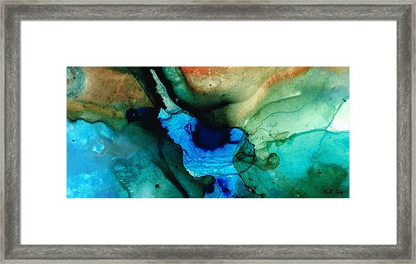 Point Of Power - Abstract Painting By Sharon Cummings Framed Print