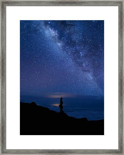 Pointing To The Heavens Framed Print