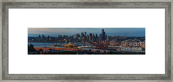 Polar Pioneer Docked In Seattle Framed Print