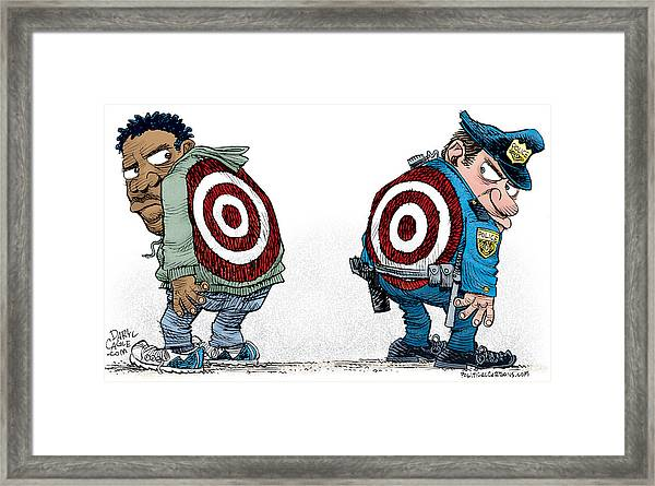 Police And Black Folks Are Targets Framed Print