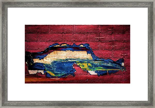 Police Car Abstract Framed Print