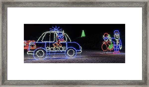 Police Lights Framed Print
