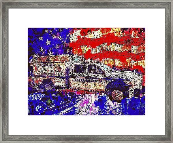 Police Truck Framed Print