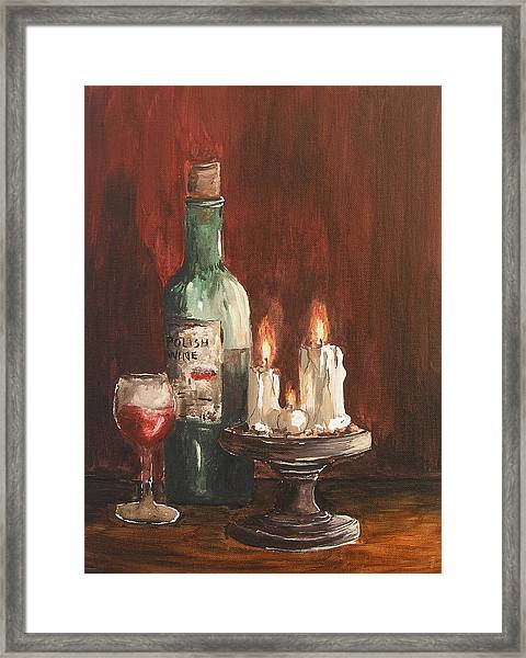 Polish Wine Framed Print