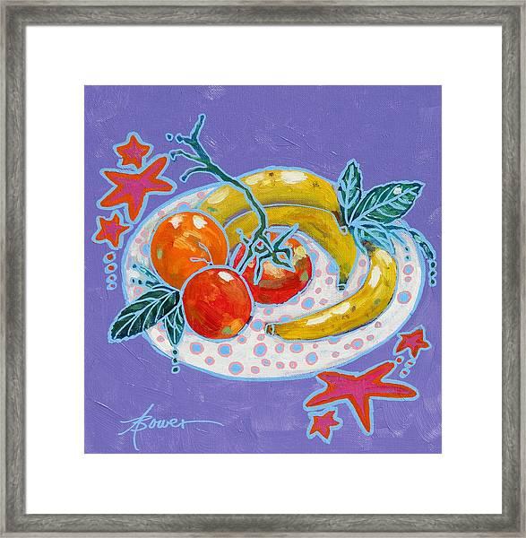 Polka-dot Plate  Framed Print