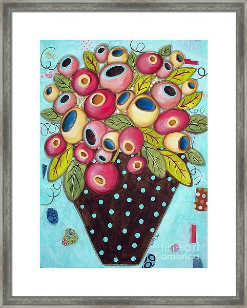 Polka Dot Pot Framed Print