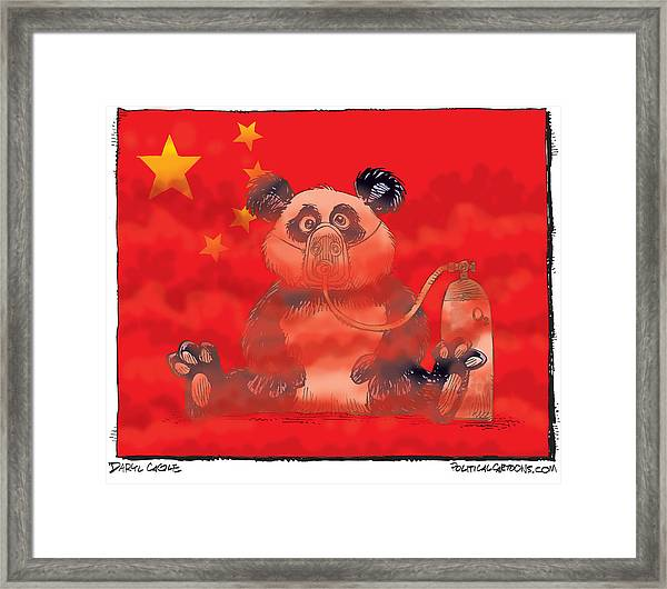 Pollution In China Framed Print