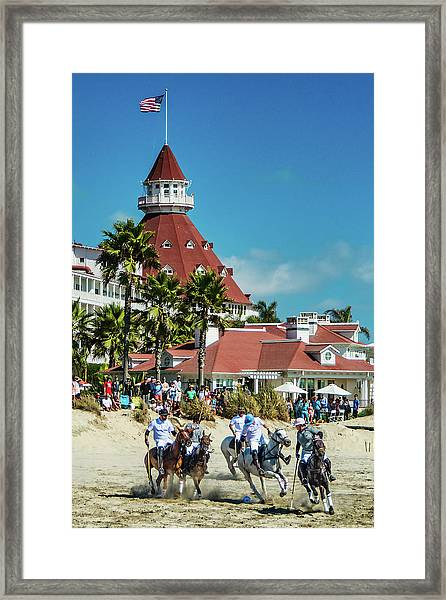 Polo At The Del Framed Print
