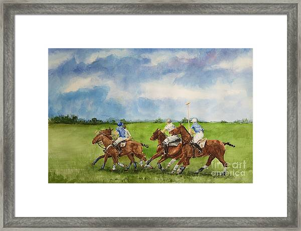 Polo Match Afternoon Framed Print
