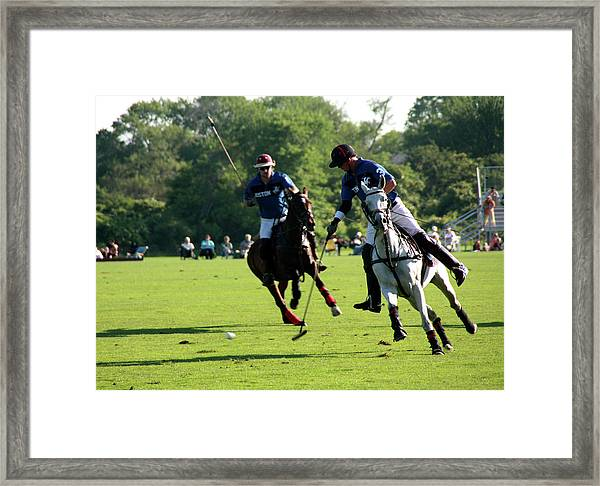 Polo Match Framed Print