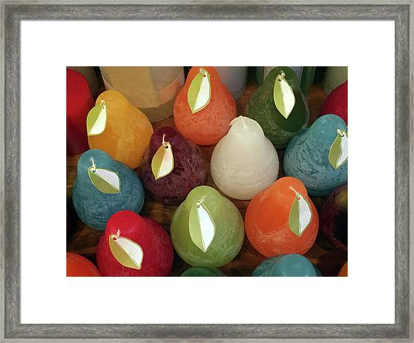 Polychromatic Pears Framed Print