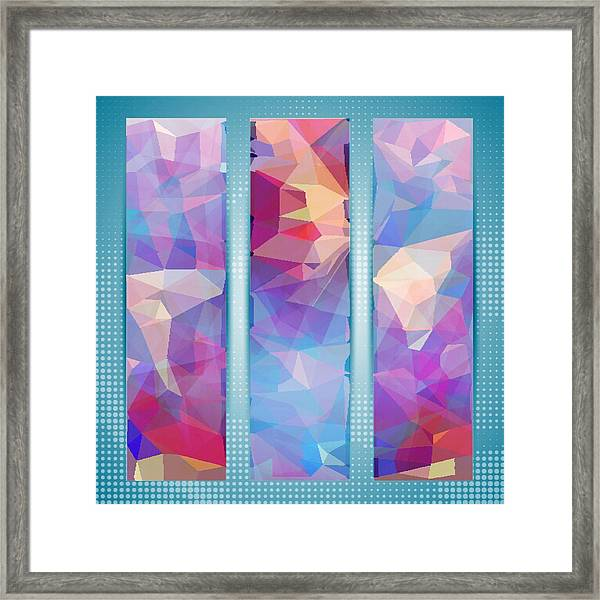 Polygon Abstract In 3 Frames Framed Print