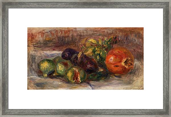 Pomegranate And Figs Framed Print