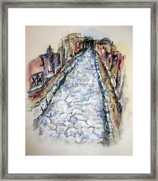Pompeii Road Framed Print