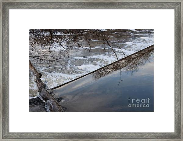 Pompton Spillway From Above Framed Print