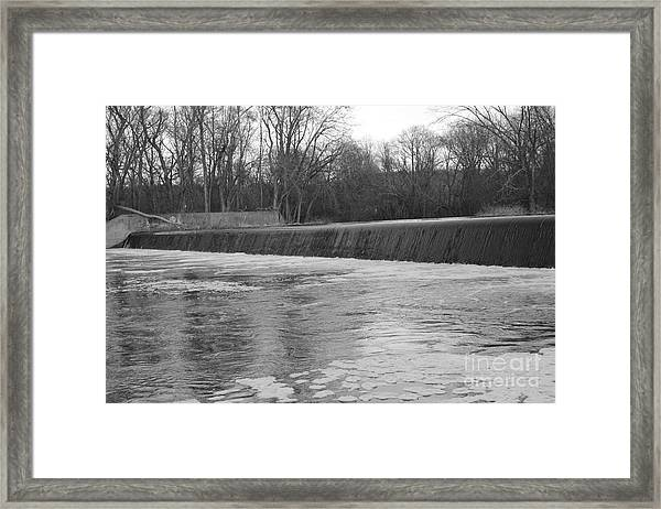 Pompton Spillway In January Framed Print