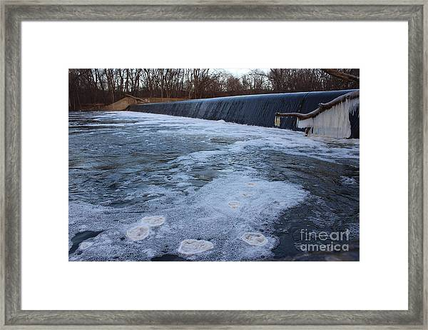 Pompton Spillway In Winter 2 Framed Print