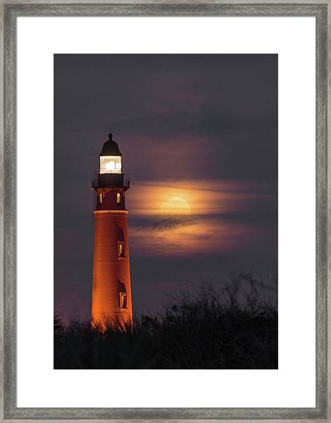 Ponce De Leon Full Moon Framed Print