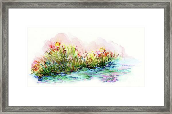 Sunrise Pond Framed Print