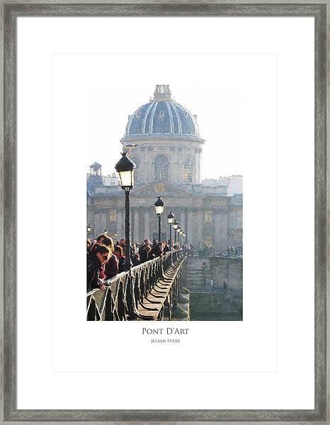 Pont D'art Framed Print