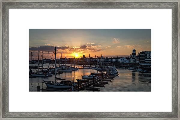 Ponta Delgada Sunset Framed Print