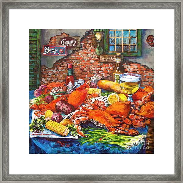 Pontchartrain Crabs Framed Print