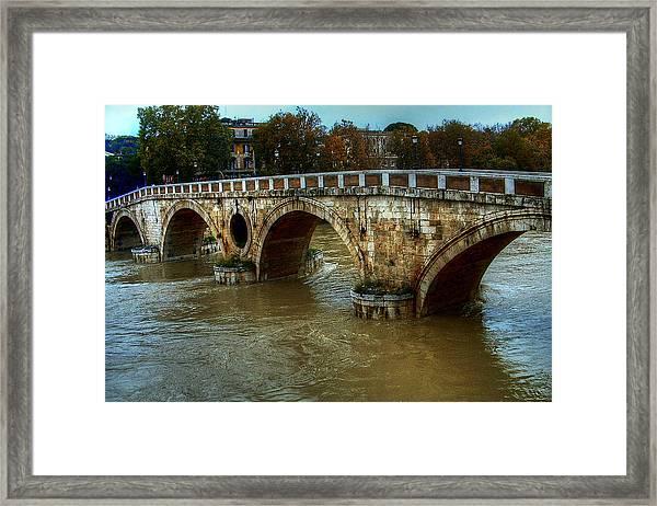 Ponte Sisto Bridge Rome Framed Print