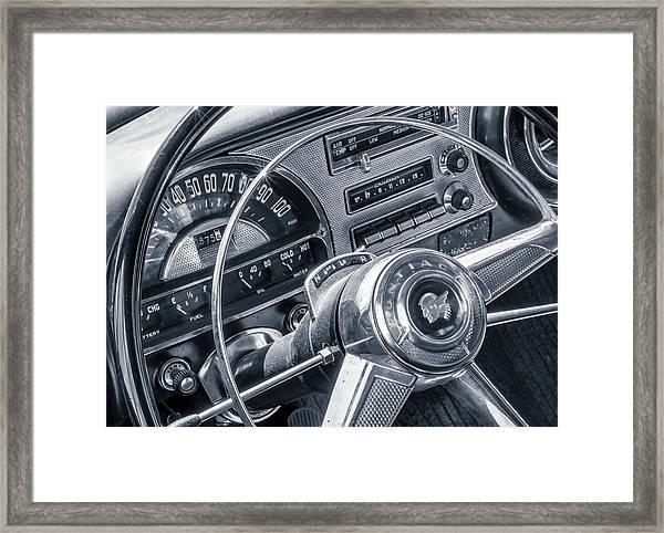Pontiac Chieftain Dash And Steering Wheel Framed Print