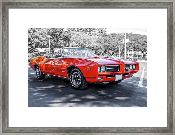 Pontiac G T O Judge Convertible Framed Print