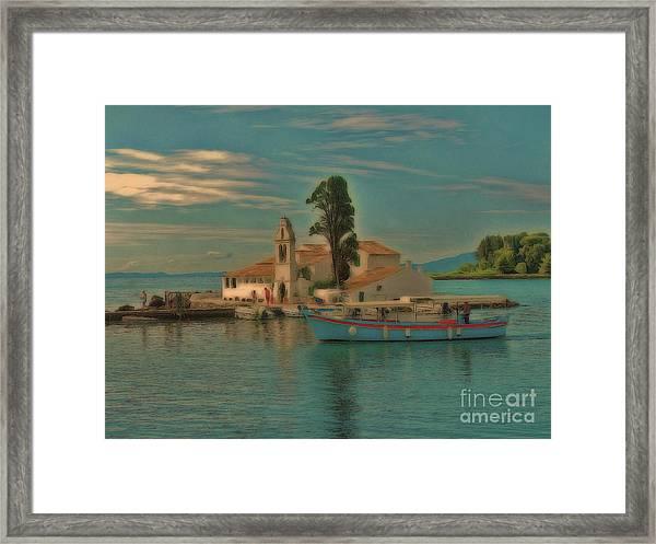 Pontikonisi Corfu Framed Print